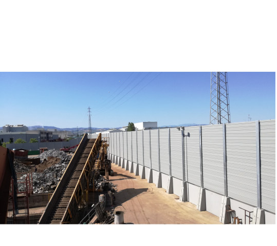 Installation of an acoustic sound barrier in Sassuolo has been completed